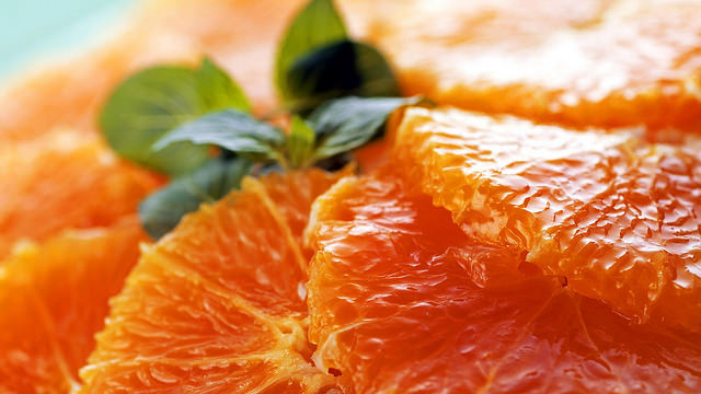 Delicious Oranges with Texture