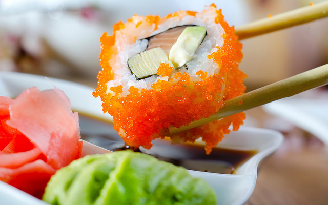 Sushi picture with natural light